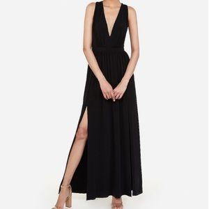 Deep V Twist Back Maxi Dress Sz L